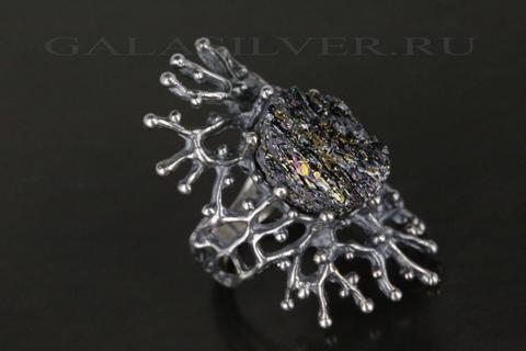Кольцо с карборундом из серебра 925