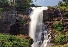 Алмазная Мозаика + Багет 30x40 Высокий водопад