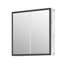 Зеркало-шкаф Corozo Айрон 70, черный, антик