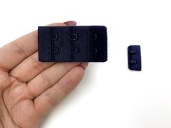 Застежка с крючками темно-синяя 2 ряда (цв. 061)