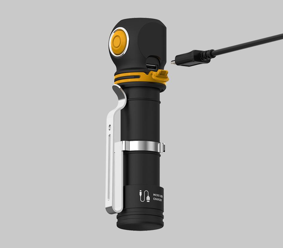 Налобный LED-фонарь Armytek Elf C2 Micro USB - фото 5