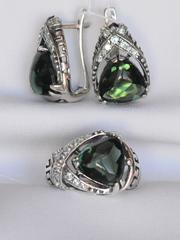Арго (кольцо + серьги из серебра)