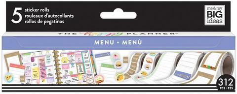 Набор стикеров в рулоне Happy Planner Sticker Roll -Food/Menu- 312 шт.
