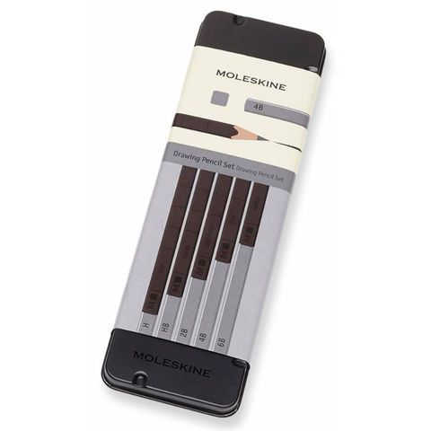 Набор карандашей чернографит. Moleskine DRAWING SET EW7P05GPHA (5 кар.H/HB/2B/4B/6B) коробка металлическая