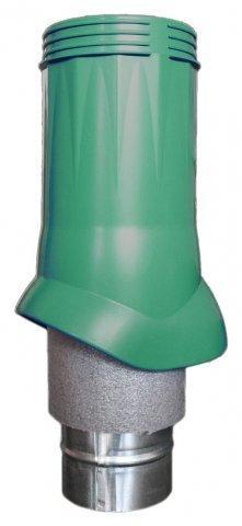 Выход вентиляционный ERA VWO D125/160 Green изолированный для нанодефлектора, пластик
