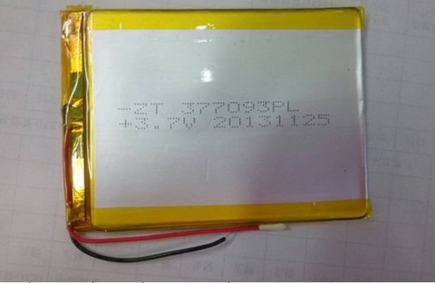 Battery 377093P 3.7V 3500mAh Lipo Lithium Polymer Rechargeable Battery (3.7*70*93mm) MOQ:50