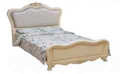 Кровать Милано (8801-A 200x120 c изножьем, без стяжек МК-1878-IV) Слоновая кость