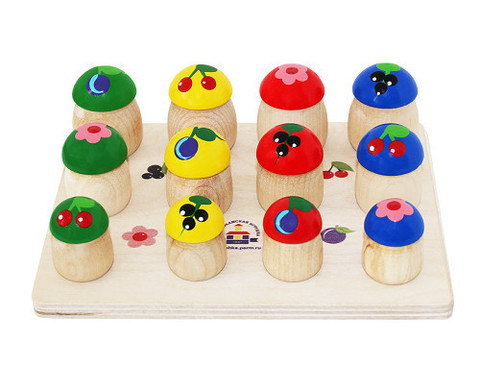 Набор грибочки, 12 шт. Краснокамская игрушка