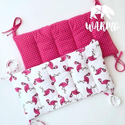 бортики в колиску з рожевими фламінго фото
