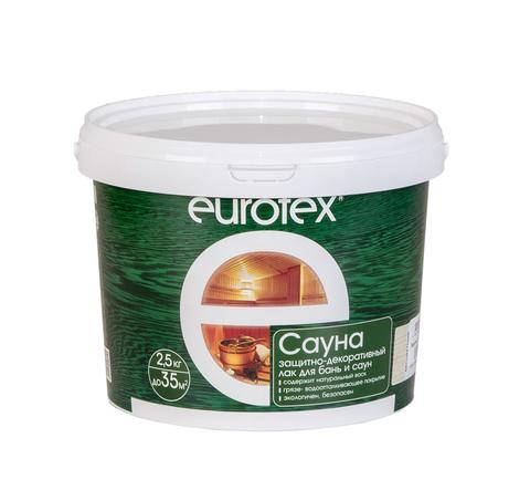 Лак защитный Евротекс-Сауна (2,5кг)