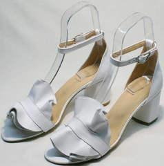 Модные босоножки женские с закрытой пяткой Ari Andano K-0100 White