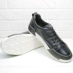 Кожаные кроссовки туфли мужские осенние Luciano Bellini C6401 TK Blue.
