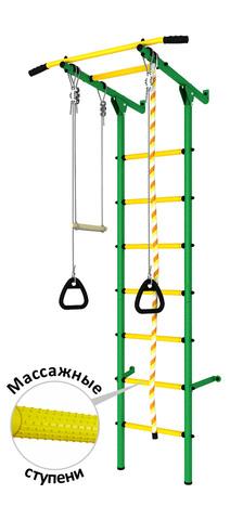 Шведская стенка (dsk с массажными ступенями) зеленый