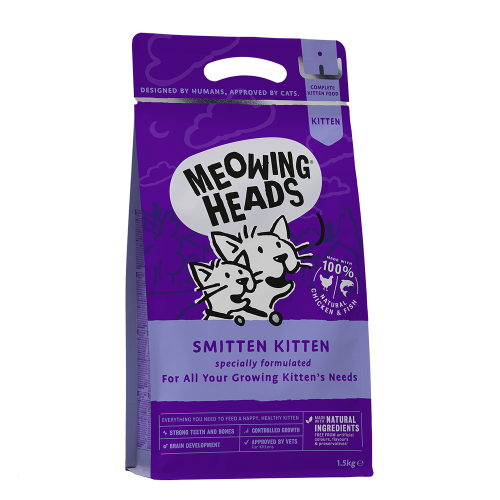 "Meowing Heads Корм для котят, MEOWING HEADS Smitten Kitten ""Восторженный котенок"", с курицей и рисом котят_кур_1.5.png"