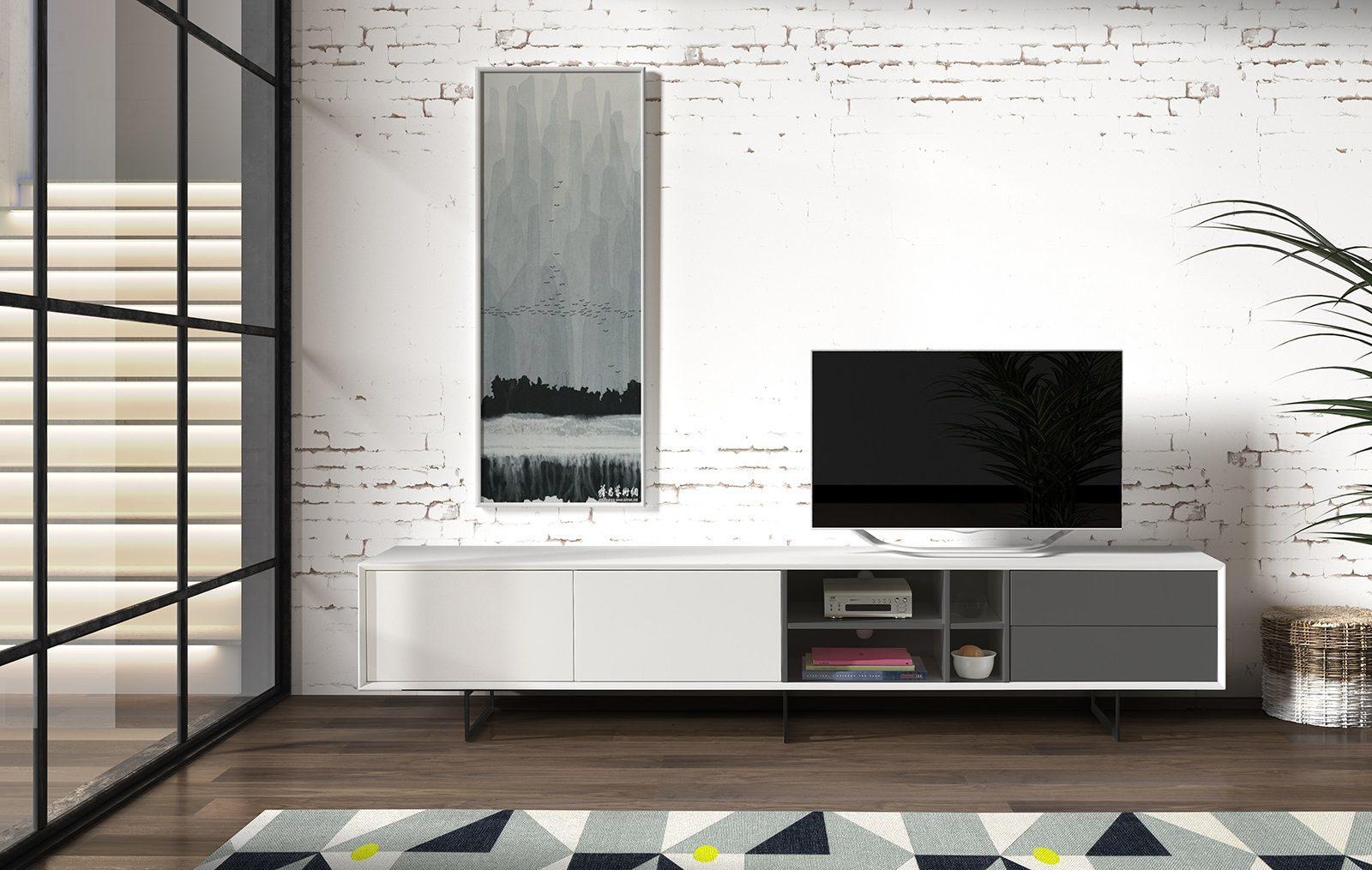 ТВ тумба DUPEN TV-130 белая (white)