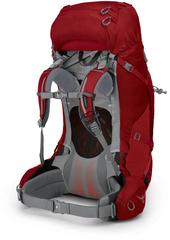 Рюкзак женский туристический Osprey Ariel Plus 70 Carnelian Red - 2