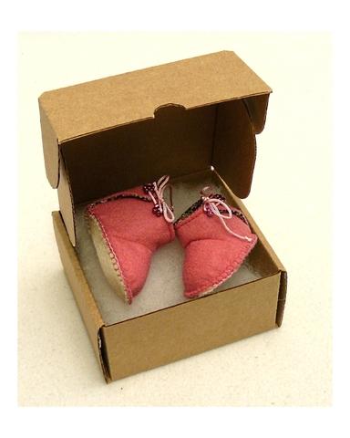 Сапожки из фетра на подкладке - Упаковано. Одежда для кукол, пупсов и мягких игрушек.
