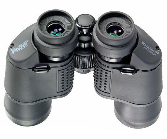 Бинокль Veber Classic БПШЦ 8x40 VRWA широкоугольный, серый - фото 3