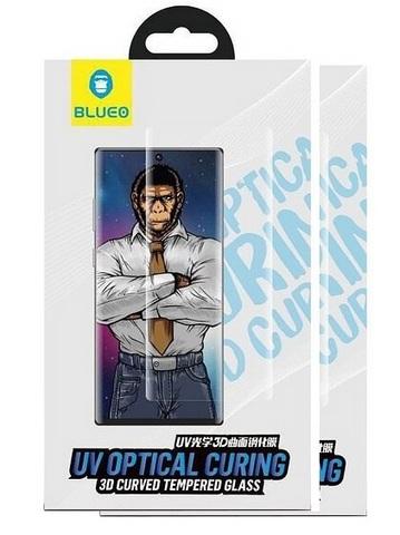 Защитное стекло BlueO для Galaxy Note 10+ закален. с олеоф.покр. | 3D с УФ-клеем прозрачное 0.33мм