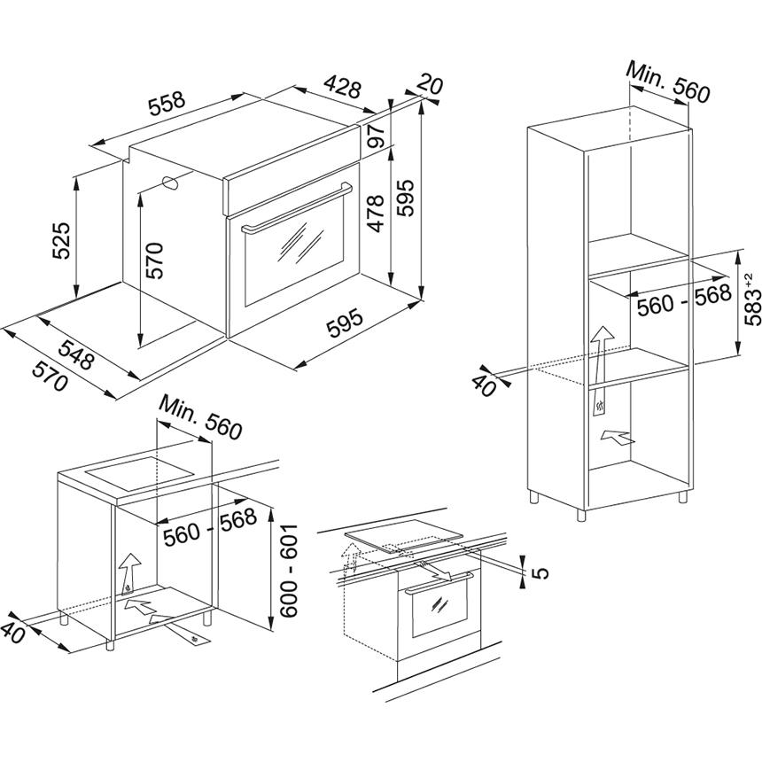 Электрический независимый духовой шкаф Franke Smart Linear FSL 86 H BK