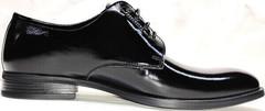 Черные туфли лаковые мужские Ikoc 2118-6 Patent Black Leather