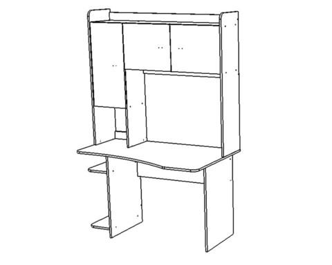 Стол КВИНС-2 /1304*1970*805/ левый