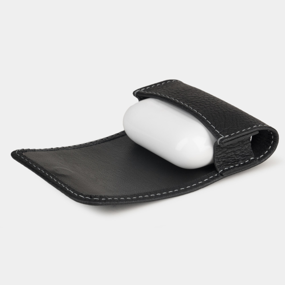 AirPods Pro leather case  - BLACK MAT