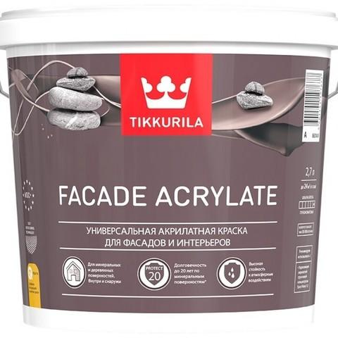 Tikkurila Facade Acrylate/Тиккурила Фасад Акрилат универсальная акрилатная краска для фасадов и интерьеров