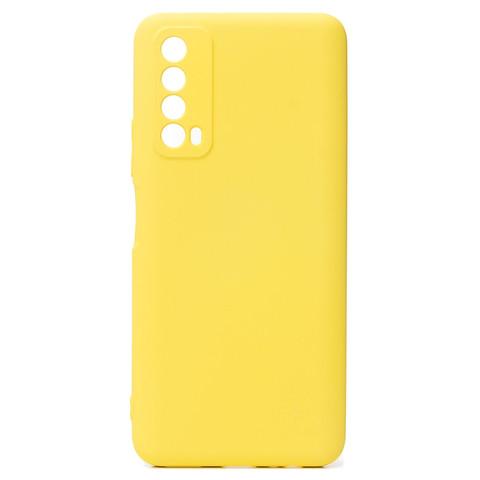 Чехол для Huawei P Smart 2021/Y7a Софт тач мягкий эффект | микрофибра желтый