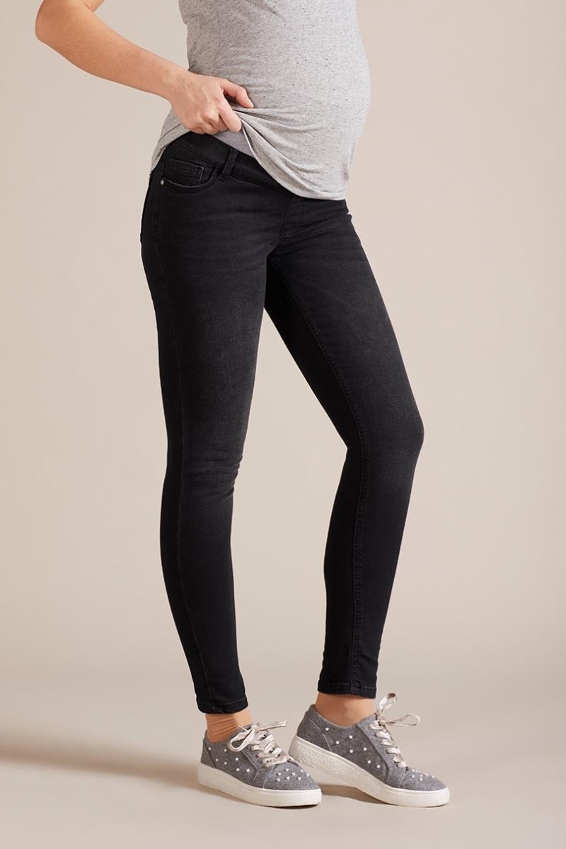 Фото джинсы для беременных GEBE, укороченные, широкий бандаж, зауженные от магазина СкороМама, серый, размеры.
