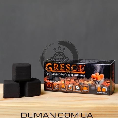 Натуральный Ореховый уголь Gresco (Греско) |0,1кг 8куб 25*25мм