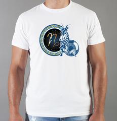 Футболка с принтом Знаки Зодиака, Козерог (Гороскоп, horoscope) белая 0032