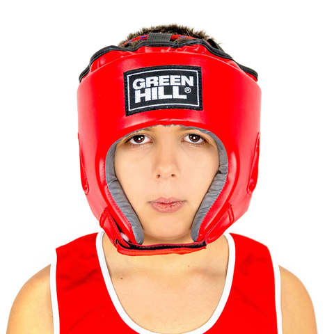Шлем для боевого самбо ORBIT Green Hill красный