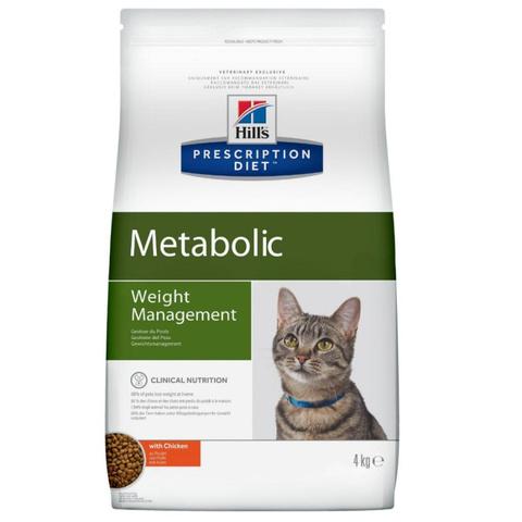 Hill`s Корм Hill's Prescription Diet Metabolic Weight Management Сухой диетический корм для кошек с ожирением способствующий снижению и контролю веса с курицей 4 кг