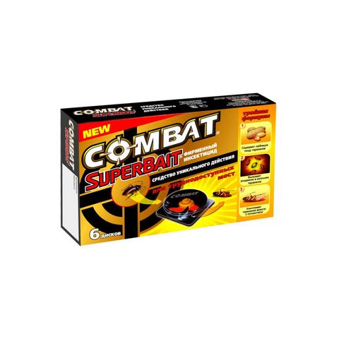 Средство от насекомых COMBAT Super Bait ловушка для тараканов 6шт
