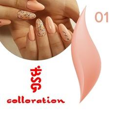 BSG Colloration, №01Нежный персиково-бежевый