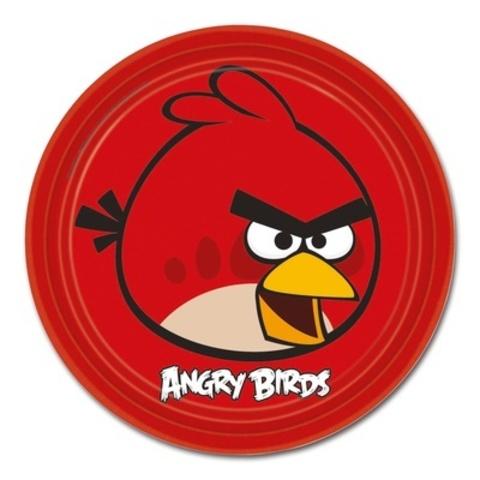 Тарелка Angry Birds 23см 8шт