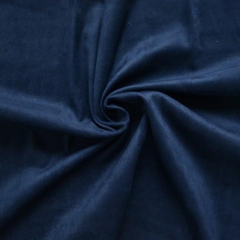 Искусственная замша, двухсторонняя, цвет: антрацит (темно-синий)
