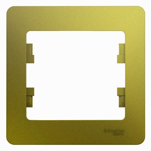 Рамка на 1 пост. Цвет Фисташковый. Schneider Electric Glossa. GSL001001