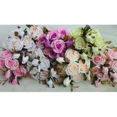 Розы искусственные евро Итальянские с бутонами, букет 50 см.