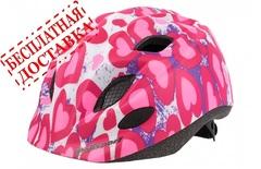Велошлем Polisport S Junior Premium Glitter Hearts с флягой и держателем