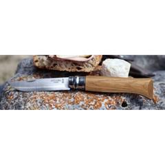 Нож Opinel №8, нержавеющая сталь, дубовая рукоять в картонной коробке