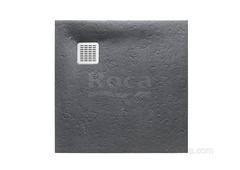 TERRAN Душевой поддон 800X800 с сифоном и решеткой графит  Roca AP0332032001200 фото