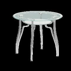 Стол стеклянный круглый Л1