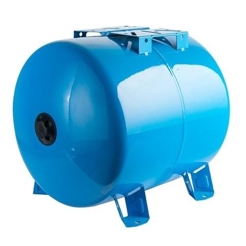 Гидроаккумулятор STOUT - 100л. (горизонтальный, со сменной мембраной, на опорных стойках)