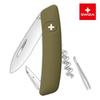 Швейцарский нож SWIZA D01 Standard, 95 мм, 6 функций, темно-зеленый