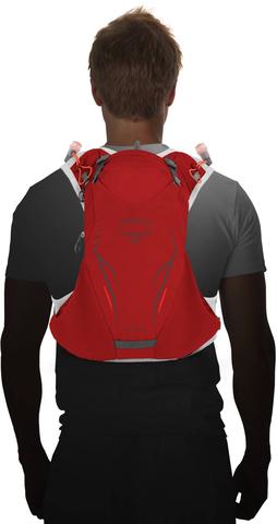 Картинка рюкзак беговой Osprey Duro 6 Phoenix Red - 3