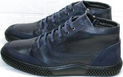 Красивые мужские ботинки кэжуал осень зима Luciano Bellini BC2802 L Blue.