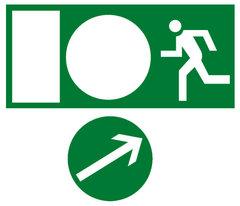 Эвакуационный знак направление движения к эвакуационному выходу налево
