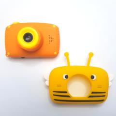 Фотоаппарат детский SmileZoom Пчёлка Желтая 20Мп + чехол